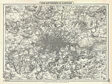 GEOGRAPHY MAP ILLUSTRATED ANTIQUE COLTON LONDON LARGE POSTER ART PRINT BB4291A