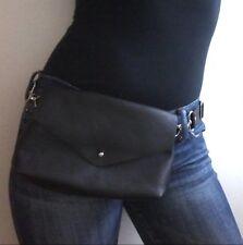 Genuine Leather New Fanny Pack Waist Bag Hip Belt Pouch Travel Purse Men Women