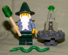 Lego WIZARD STAFF GREEN HAT TABLE LOOSE 9349 Fantasy Education Set Mini-Figure