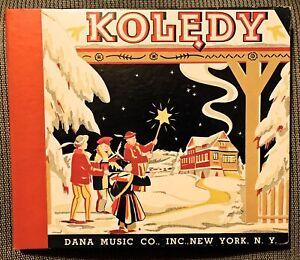 Kolędy - Polish Christmas Carols - RARE 1947 Dana 4-record Set - Stas Jaworski