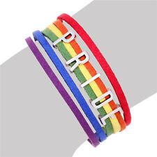 Drapeau arc-en-ciel gay lesbienne lgbt bracelet charme initial pride bracelet pour les couples tp