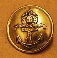 Original alter Uniformknopf Knopf KAISERLICHE MARINE A.A. Ø 25,5 mm goldfarben