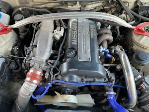 JDM NISSAN SILVIA S14 BLACKTOP SR20DET ENGINE SWAP 5 SPEED TRANSMISSION
