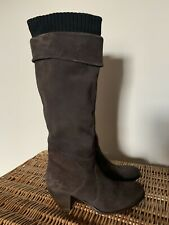 Miss Sixty Knee high Boots Size 5 (38) Brown Suede