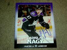 Ladislav Nagy Autographed LA Kings Game Lineup Card