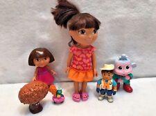 Dora The Explorer Doll Diego Doll Baby Boots Swiper Tree Figure Lot
