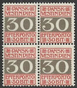 1905 Paintings Antilles Danish, Vat N° 7 MNH / Quartina