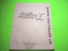 Capcom STREET FIGHTER II Original 1990 Video Arcade Game Kit Installation Manual