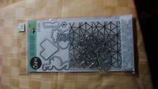 sizzix framelits,textured impressions w/stamps by jen long-- tropical geometrics