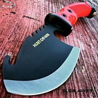 "10.5"" RED TACTICAL SURVIVAL TOMAHAWK THROWING AXE BATTLE Hatchet knife hunting"