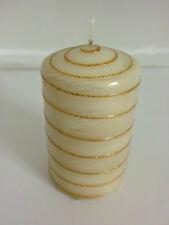 Grundpreis €14,42/kg formano Stumpenkerze 10cm  274 Gramm Deko creme/gold