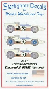 Starfighter Decals 2404 Texas Roadrunners Pt.1 2A 1:24 Slot Car Decals