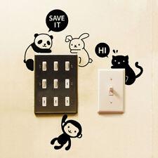 1pc Removable Animal Light Switch Art Vinyl Wall Sticker Mural Home Decor Rabbit