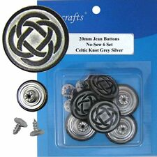 20 mm No-Sew Replacement Jean Tack Buttons (20W326)  6 CT.