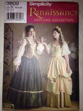 SIMPLICITY 3809 Sewing Pattern Size 10 12 14 Medieval  Renaissance Costume BinB