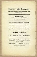 1879 Globe Theatre London programme - Les Cloche de Corneville