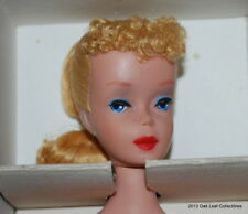 VINTAGE MIB #4 Blond Ponytail Barbie WITH Attached Wrist Tag!