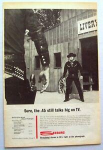 SEEBURG JUKEBOXES vintage 1962 POSTER  ADVERT 45rpm vs 33rpm