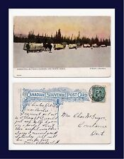 CANADA YUKON FREIGHT DAWSON WHITEHORSE BRIDGEBURG GODERICH RPO 1909 CONTANCE ONT