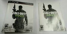 NO GAME Call of Duty MW3 Artwork Manual Sony PS3 Pass DLC Collectors Playstation