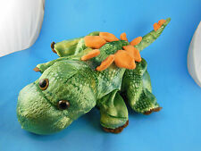 "Dinosaur Stegosaurus 14"" Hand Puppet Green with Orange Caltoy"