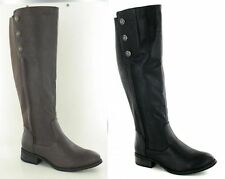 Elasticated Knee High Boots Synthetic Shoes for Women