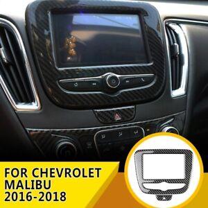 For Chevrolet Malibu Soft Carbon Fiber GPS Navigation Frame Panel Trim 2016-2018