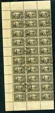 Canal Zone Scott #J11C Postage Due Used Partial Sheet of 30 Stamps (CZ J11C-b7)
