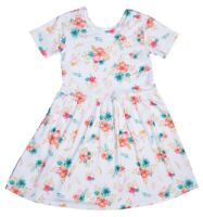 Girls spring summer WHITE FLORAL DRESS-FREE SHIPPING! Size 3,4,5,6