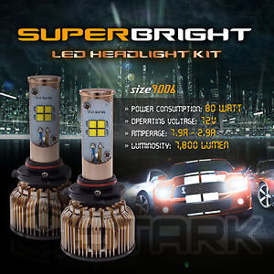 LED 80W 7800LM LED Kit CREE XT-E 6000K White Headlight Light - 9006 HB4 (B)