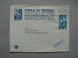 ITALY, cover to Germany 1955, stamp sailor canc. Triest