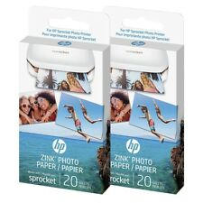 "HP ZINK Sticky Backed Photo Paper 2"" x 3"" for HP Sprocket Mini Printer 40 Sheets"