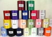 PLAIN POLYESTER SINGLE SIDED RIBBON 100MM WIDE CHOICE OF COLOURS