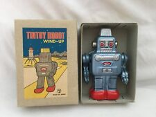 Vintage NOS Tin Litho Small JAPAN Y Space Robot in Box Wind Up #17 BLUE Sanko