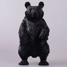 """k18664 180mm Carved stone standing bear figurine 7.1"""""""