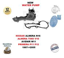 FOR NISSAN ALMERA N16 TINO V10 AVENIR W11 PRIMERA P11 P12 1997>2005 WATER PUMP