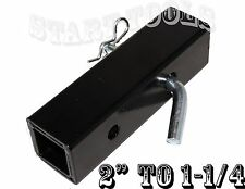 Hitch Pin Included Cal-Hawk 2 to 1-1//4 Hitch Adapter 10-1//2 Overall Length