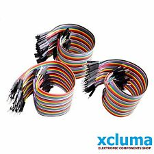 XCLUMA 120 PCS MALE TO FEMALE, MALE TO MALE ,FEM TO FEM JUMPER WIRES 20CM BE0109