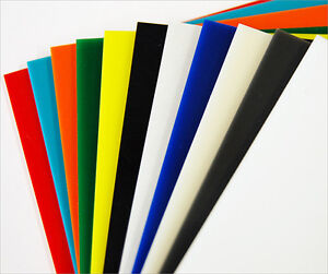 COLOUR SAMPLES Acrylic Prespex RANGE of COLOURS