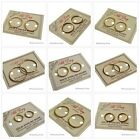 22ct Gold 925 Sterling Silver Hinged Sleepers AUSTRALIAN MADE All Sizes Earrings