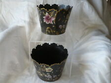 Pair of Cache Pots in the Style of 18 # Metal Painted 20 #Century 2