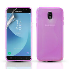 SLIM SILICONE GEL CASE COVER & SCREEN PROTECTOR FOR SAMSUNG GALAXY J5 2017
