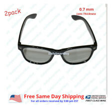 2Pack Passive 3D Glass with Polarized Plastic Lenses for Vizio LG 3D glasses
