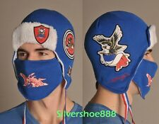 NWT ED HARDY MENS FRANCE EDITION WINTER SKI HAT/BOMBER REMOVABLE FACEMASK