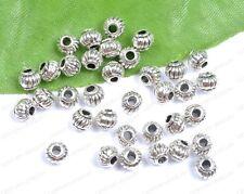 Wholesale 100Pcs Tibetan Silver Lantern-Shaped Spacer Charms Beads 4X5MM C276