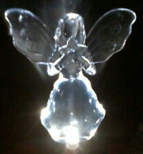 SOLAR STAKE GARDEN LIGHT ANGEL HOLDING A STAR NEW WITH TAGS HOLIDAY CHRISTMAS