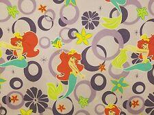 Disney's The Little Mermaid  2 Pc Twin Bed Sheet Flat Fitted Ariel
