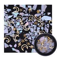 Irregular Shell Nail Rhinestone Moon Star Pearl Cross 3D Nail Art Decoration #3