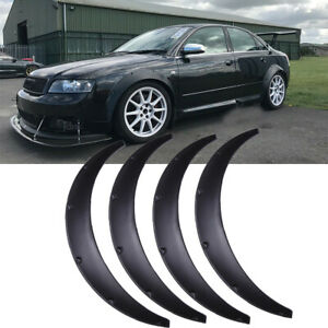 """For Audi A4 S4 Fender Flares Wider Body Kit Wheel Arches Extensions 3.5"""" 90mm"""