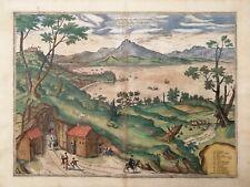 NAPOLI. POSILLIPO. Golfo di Napoli. G.BRAUN, F.HOGENBERG. Civitates 1578